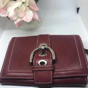 All leather red Coach wallet